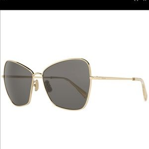 CELINE Gold Butterfly Sunglasses NWT